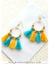 Tassel Sunny Yellow 30mm, 5 pieces