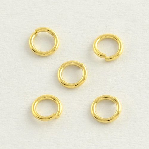Stainless Steel Jumprings Gold 4mm, 75 pieces