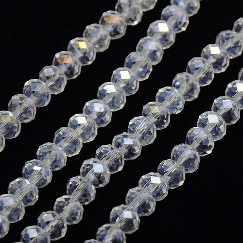 Faceted Beads Crystal Shine 6x4mm, 50 pieces