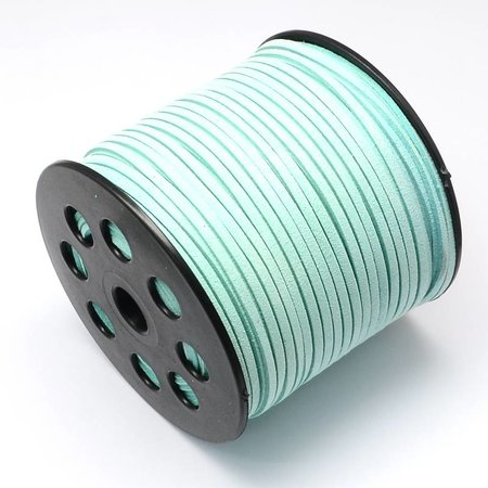 Suede Cord Mint Green 3mm, 3 meter