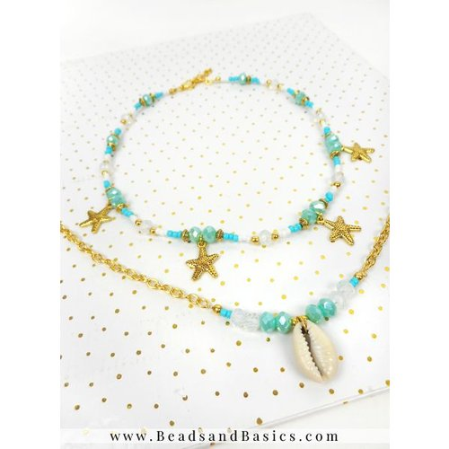 Kauri Shell Necklace With Seastar Charms Necklace