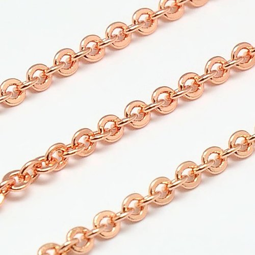 Cross Chains Rose Gold 2.5mm, 1 meter