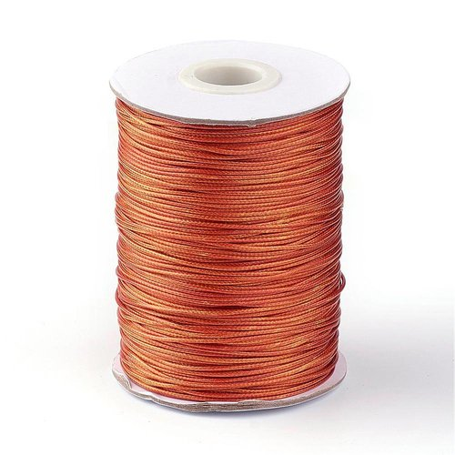 Waxed Cord Copper 1mm, 3 meter