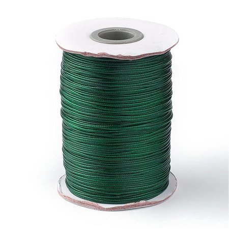 Waxed Cord Dark Green 1mm, 3 meter