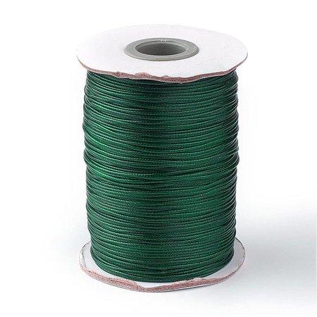 Waxkoord Donker Groen 1mm, 3 meter