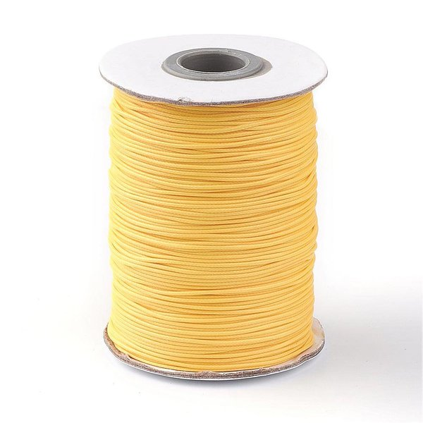 Waxed Cord Gold Yellow 1mm, 3 meter