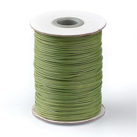 Waxkoord Olijf Groen 1mm, 3 meter