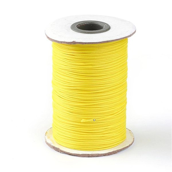 Waxed Cord Yellow 1mm, 3 meter