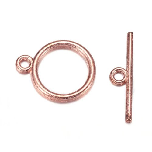 Toggle Clasp Rose Gold 15mm, 4 sets