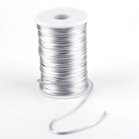 Satin Cord Silver 2mm, 3 meter