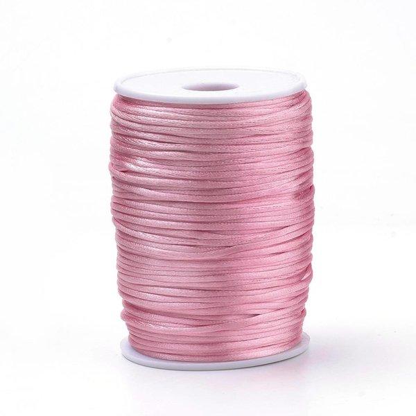 Satijnkoord Licht Roze 2mm, 3 meter