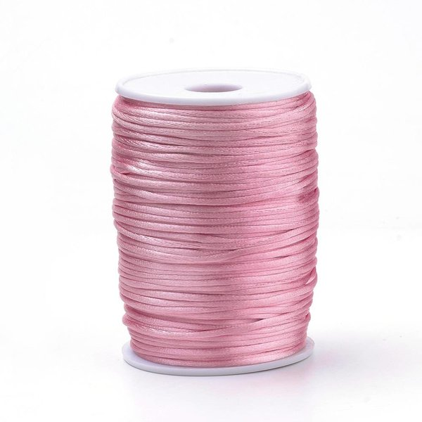 Satin Cord Light Pink 2mm, 3 meter