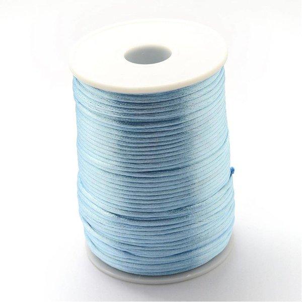Satijnkoord Grijs Blauw 2mm, 3 meter