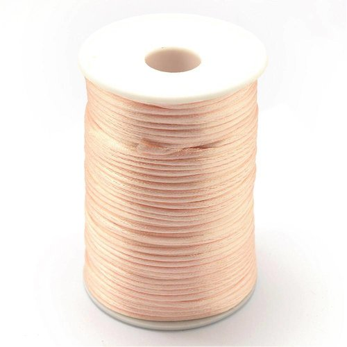 Satin Cord Peach 2mm, 3 meter