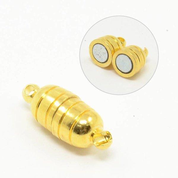 Magneetsluiting Goud 15x5mm Nikkelvrij , 5 stuks