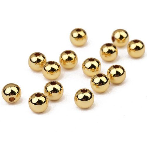 Spacer Beads Gold 5mm, 100 pieces