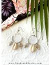 Zilveren Hoop Oorbellen Met Schelpjes Bedels