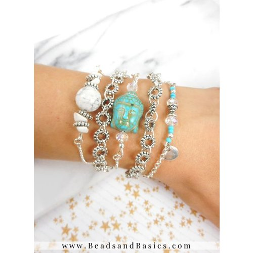 Buddha Bracelet Set With Karma Charms