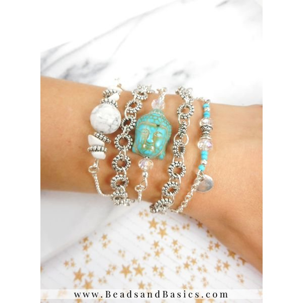 Buddha Bracelet Set With Karma Charms
