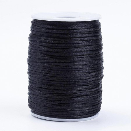Satin Cord Black 2mm, 3 meter