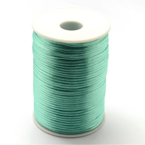 Satin Cord Sea Green 2mm, 3 meter