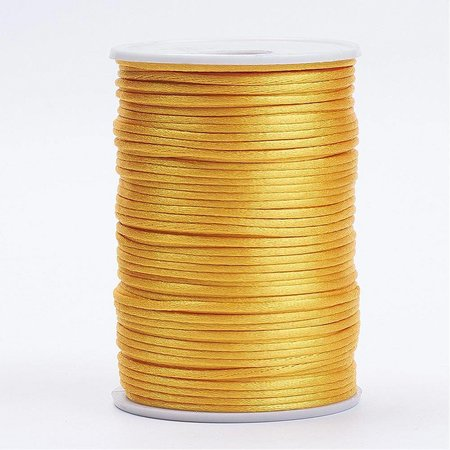 Satin Cord Yellow Gold 2mm, 3 meter