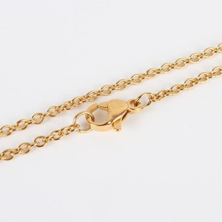 Stainless Steel Necklace 45cm Gold 2mm