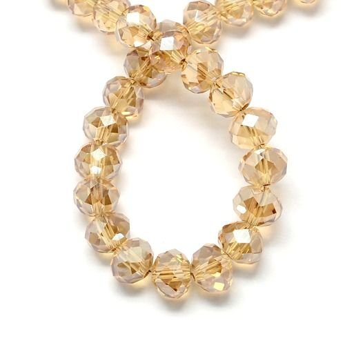 50 pcs Faceted beads Champagne Transparent 6x4mm
