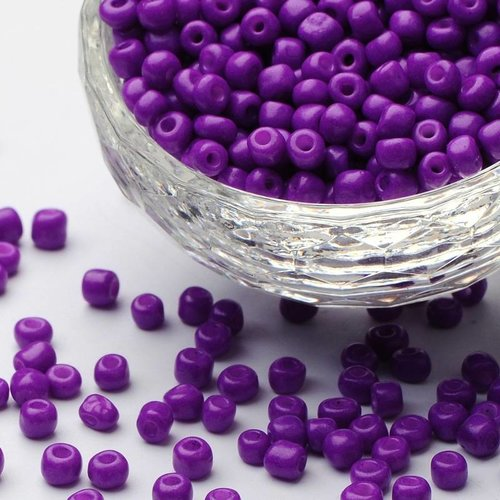 7 grams Purple Seed beads 2mm