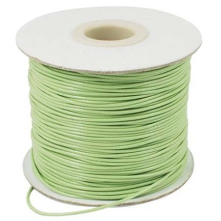 Light Green wax cord 1mm, 3 meters