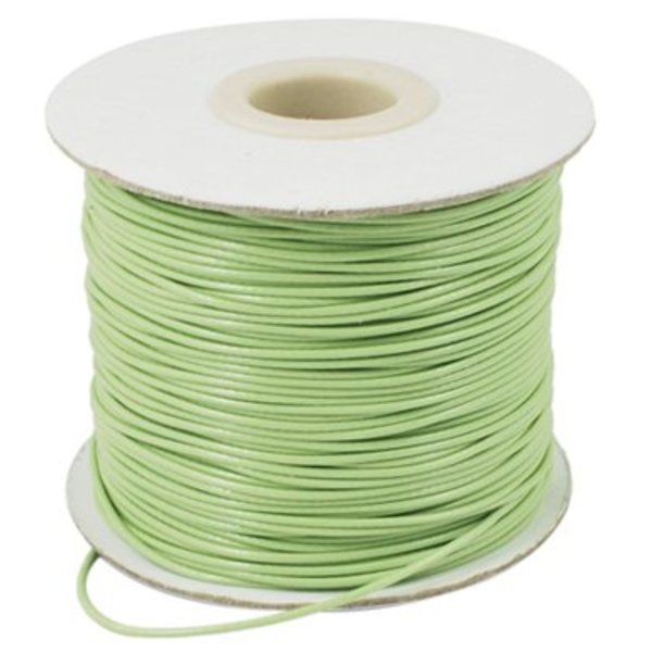 Light Green Waxed Cord 1mm, 3 meters