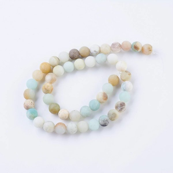 Natural Frosted Amazonite Beads 6mm, strand 63 pieces