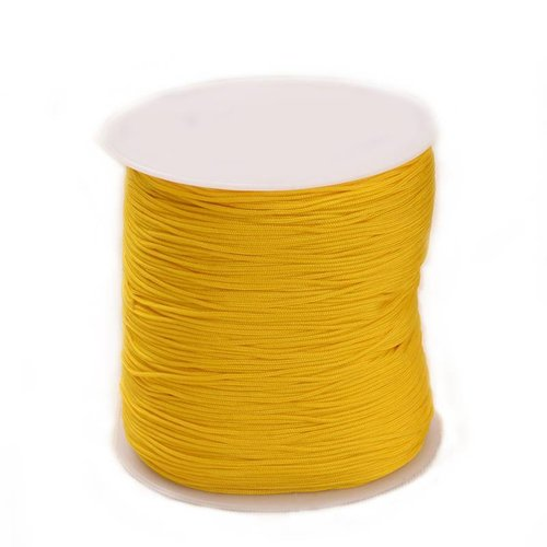 5 meter Macramecord 1mm Ocher Yellow
