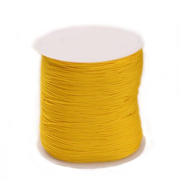 Macramecord Ochre Yellow 1mm, 5 meter