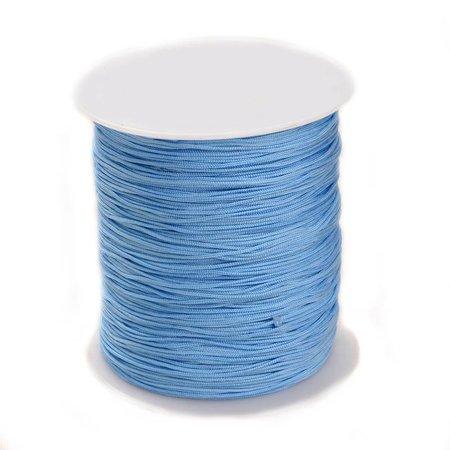 5 meter Macramedraad 1mm Grijs Blauw