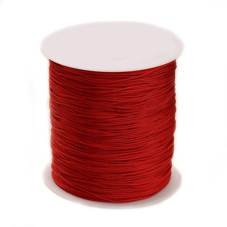 5 meter Macramecord 1mm Red
