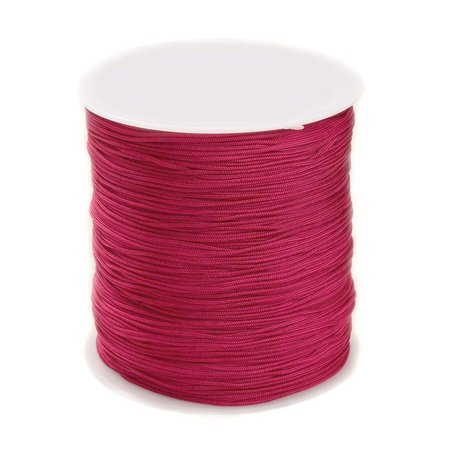 5 meter Macramecord 1mm Fuchsia Pink