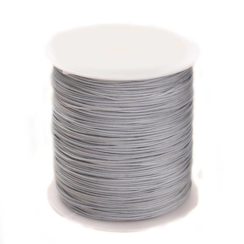 5 meter Macramecord 1mm Light Gray