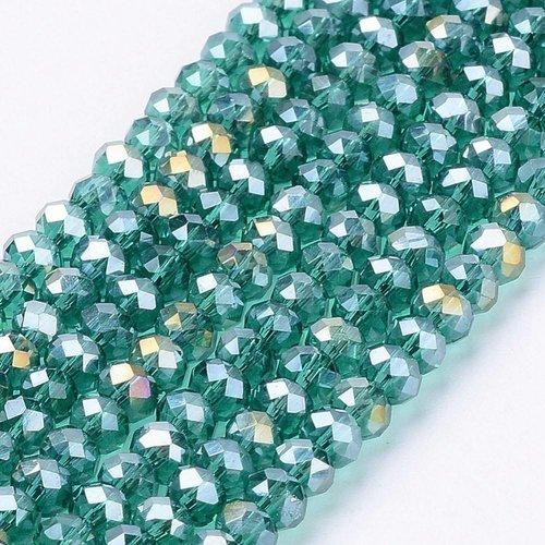 80 stuks Facetkralen Groen 3x2mm