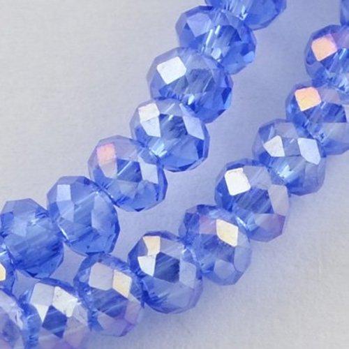 80 stuks Facetkralen Blauw 3x2mm