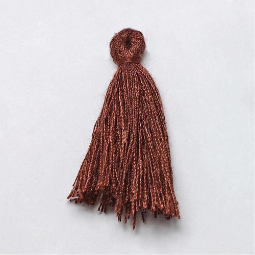 Tassel Brown 30mm, 5 pieces