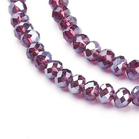 30 pieces Faceted Beads Vintage Purple 8x6mm