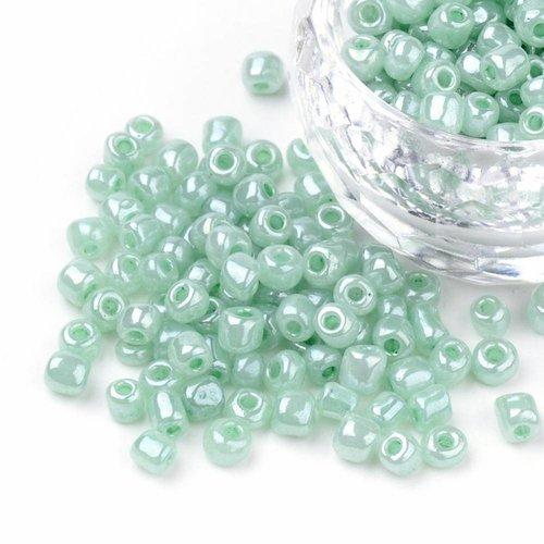 7 gram Rocailles Mint Groen 2mm