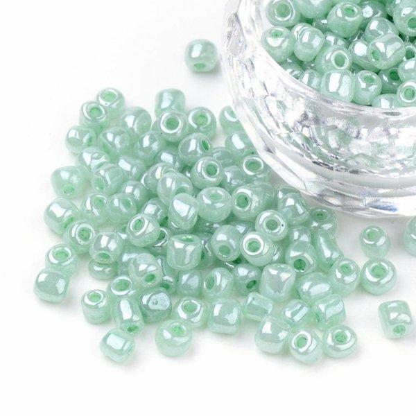 7 gram Rocailles Mint Groen 4mm