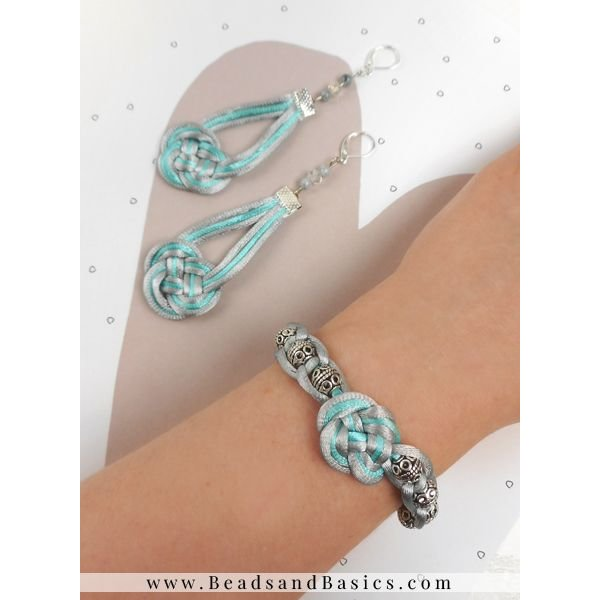 infinity Knot Earrings And Bracelet