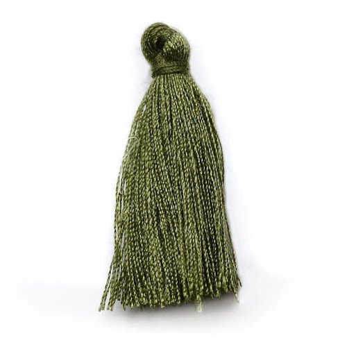 Tassel Army Green 30mm, 5 pieces