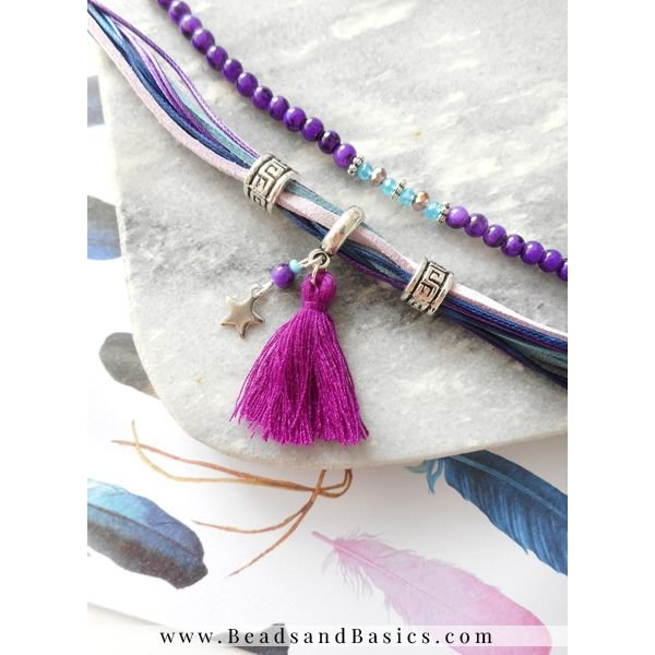Tassel Purple 30mm, 5 pieces