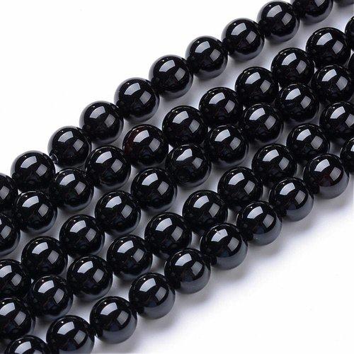 Natural Zwart Agaat Kralen 4mm, streng 96 stuks