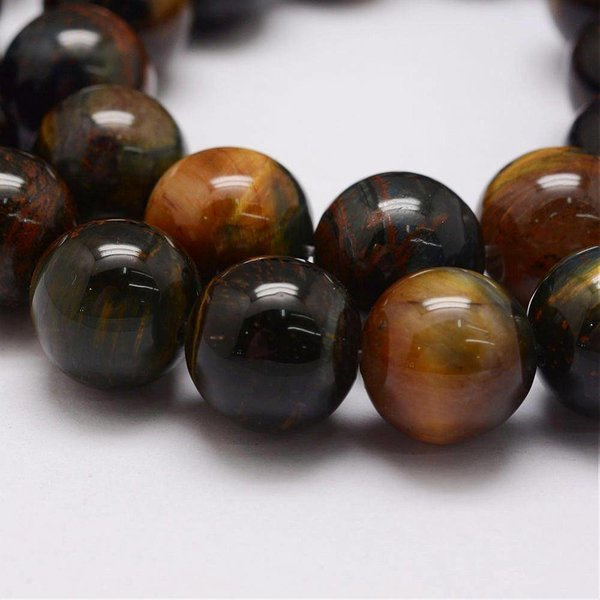 Natural Tiger Eye Beads 6mm, strand 63 pieces