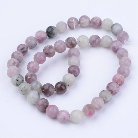 Natural Lilac Jade Beads 6mm, strand 63 pieces
